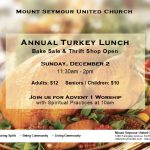 Annual Turkey Lunch, Bake Sale and Thrift Shop Open - Sunday, December 2 | 11:30am