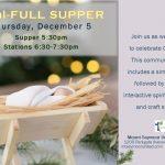 Soul-FULL Supper  |  Thursday, December 5  |  5:30pm