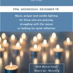 Blue Christmas Candlelight Service - Wednesday, December 19  |  7pm