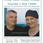 Deep Cove Coffee House, December 7 |  7:30pm -  Jennifer Scott & Renee Worst