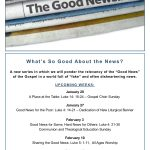 Worship Theme: January 20 - March 3, 2019 -  'What's So Good About the News'