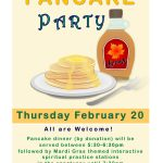 Mardi Gras Pancake Party - Thursday, February 20 at 5:30pm