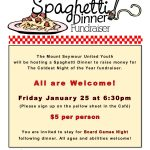 Spaghetti Dinner Fundraiser - Friday January 25 at 6:30pm