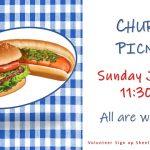 Church Picnic - Sunday, June 9, 11:30am