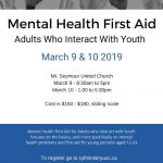 Mental Health First Aid - Adults Who Interact with Youth