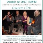 Deep Cove Coffee House Friday October 20  Featuring Quartete a Tete